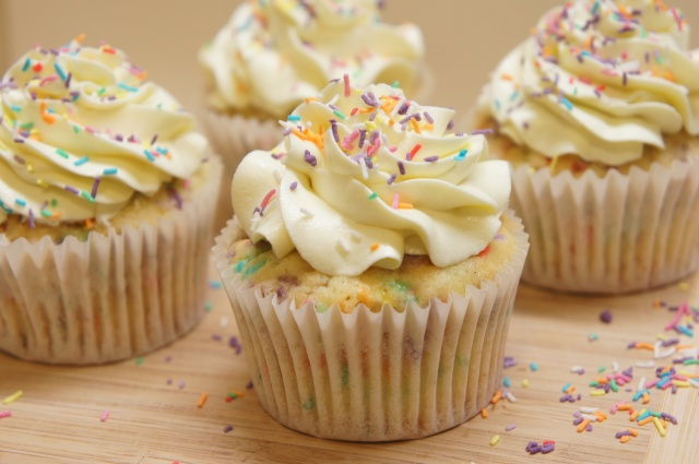 Confetti Celebration Cupcakes