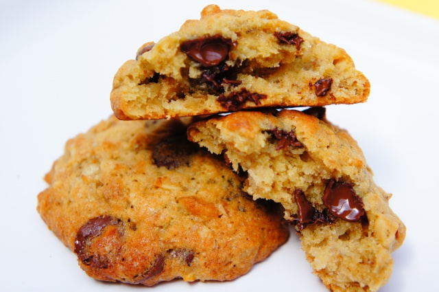 Banana Cake Choc Chip Cookies