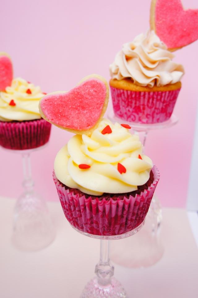 Red Velvet Engagement Cupcakes