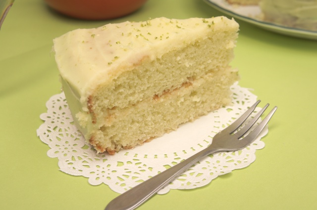 Lime Cake with Lime Cream Cheese Frosting