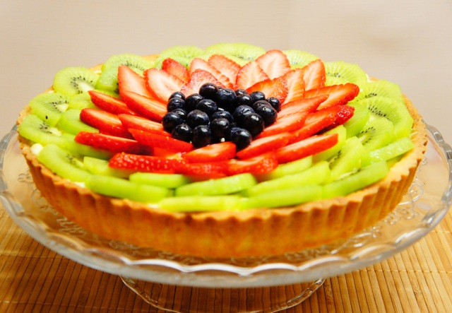 Vanilla Custard Fruit Tart