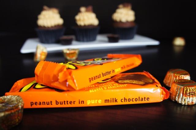 Peanut Butter Choc Cupcakes