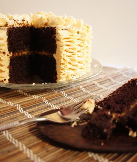 Salted Dulce de Leche Chocolate Cake
